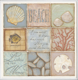 Count the Waves Beach 9 Patch Wall Plaque Wood Sign