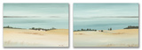 Beautiful Sandy Beach Horizon Oversized 2 Piece Duo Wood Sign