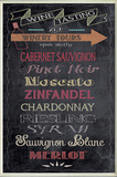 Wine Tasting Typography Chalkboard Look Kitchen Wall Plaque Wood Sign