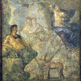 Italy, Naples, Naples Museum, from Pompeii, House of Diodcuri (VI 9, 6-7), Endimione and Selene Photographic Print by Samuel Magal