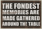 The Fondest Memories…Kitchen Wall Plaque Wood Sign