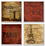 Paris This Paris That 4 Pc Wall Plaque Set Wood Sign