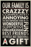 Our Family is Crazzzy Inspirational Typography Wall Plaque Wood Sign