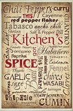 Kitchen Spice Words Wall Plaque Wood Sign