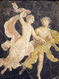 Italy, Naples, Naples Museum, Stabiae, Villa of Arianna, Atrium, Couple in Flight Photographic Print by Samuel Magal