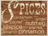 Spices and Words Brown Wall Plaque Wood Sign