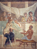Italy, Naples, Naples Museum, from Pompeii, The Tragic Poet House (VI 8, 3-5), Alecesti and Admeto Photographic Print by Samuel Magal