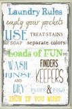 Laundry Room Typography Wall Plaque Wood Sign