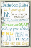 Bathroom Typography Wall Plaque Wood Sign