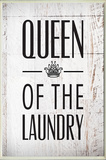 Queen of the Laundry with Crown Bath Wall Plaque Wood Sign