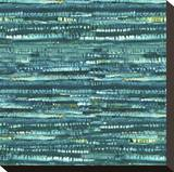Aqua Weave Stretched Canvas Print by  Studio Eleven