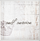 Self Service Laundry Bath Plaque Wood Sign