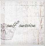 Self Service Laundry Bath Plaque Wood Sign
