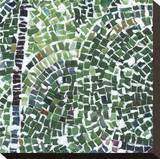 Garden Mosaic Stretched Canvas Print by  Studio Eleven
