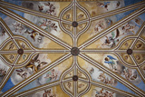 Spain, Andalusia, Granada, Alhambra Palace, Decorated Ceiling Photographic Print by Samuel Magal