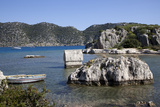Turkey, Kekova Islands, Lycian Tomb Photographic Print by Samuel Magal