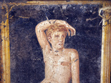 Italy, Naples, Naples Museum, from the Villa of Arianna in Stabiae, Naked Young Man on a Stool Photographic Print by Samuel Magal