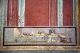 Italy, Naples National Archeological Museum, from Pompeii, Isis Temple, Portico, Decoration Photographic Print by Samuel Magal