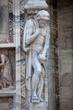 Italy, Milan, Milan Cathedral, Statues and Reliefs Photographic Print by Samuel Magal