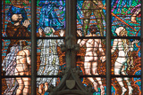 Prague, St. Vitus Cathedral, Southern Transept Arm, The Last Judgment Photographic Print by Samuel Magal