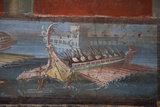 Italy, Naples Museum, from Pompeii, Isis Temple, Naumachia, Representation of a Naval Battle Photographic Print by Samuel Magal