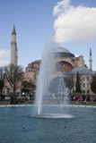 Turkey, Istanbul, Hagia Sophia, Exterior, Fountain Photographic Print by Samuel Magal