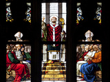 Italy, Milan, Milan Cathedral, Window 32, Life of St. Ambrose, Meeting with the Emperor Theodosius Photographic Print by Samuel Magal