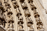 France, Amiens Cathedral (World Heritage Site), South Transept, Portal of the Golden Virgin Photographic Print by Samuel Magal
