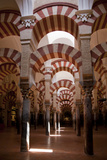 Spain, Andalusia, Cordoba, Cathedral–Mosque of Cordoba, Original Mosque, Arched Aisles Photographic Print by Samuel Magal