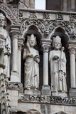 France, Amiens Cathedral (World Heritage Site), West Facade, Gallery of Kings Photographic Print by Samuel Magal