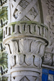 Portugal, Lisbon Region, Sintra, Pena National Palace, Decorated Column Photographic Print by Samuel Magal