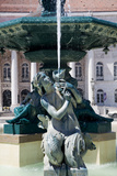 Portugal, Lisbon, Main Square (Pedro IV Square), Rossio Fountain, Mermaid Statue Photographic Print by Samuel Magal