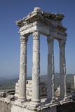 Turkey, Pergamon, Temple of Traianus Photographic Print by Samuel Magal