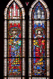 France, Alsace, Strasbourg, Strasbourg Cathedral, Stained Glass Window, Holy Roman Empire Emperors Photographic Print by Samuel Magal