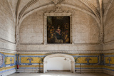 Portugal, Lisbon, Belem, Hieronymite Monastery, Refectory, Painting, Detail Photographic Print by Samuel Magal