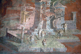 Italy, Naples, Naples Museum, from Pompeii, Illustration with Landcape, The Porticus Photographic Print by Samuel Magal