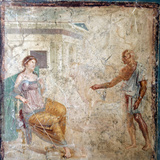 Italy, Naples, Naples Museum, from Pompeii, House of Vettii (VII 4, 48), Daedalus and Pasiphae Photographic Print by Samuel Magal