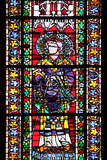 France, Alsace, Strasbourg, Strasbourg Cathedral, Stained Glass Window, Saint Valentius Photographic Print by Samuel Magal