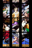 Italy, Milan, Milan Cathedral, Window 12, Stories of St. Giovanni Bono (above his altar) Photographic Print by Samuel Magal