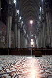Italy, Milan, Milan Cathedral, Nave Photographic Print by Samuel Magal