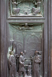 Italy, Siena, Siena Cathedral, Bronze Door Relief Photographic Print by Samuel Magal