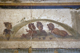 Italy, Naples, Naples Museum, Stabiae, Villa of Arianne, Area E, Frieze with Pygmies Photographic Print by Samuel Magal