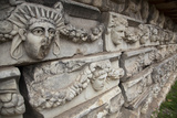 Turkey, Aphrodisias, Sebasteion, Wall Reliefs, Theatrical Masks Photographic Print by Samuel Magal