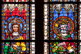 France, Alsace, Strasbourg, Strasbourg Cathedral, Stained Glass Window, Swabian Philip and Henry V Photographic Print by Samuel Magal