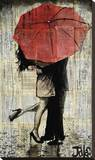 The Red Umbrella Stretched Canvas Print by Loui Jover