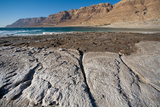 Middle East, Israel, Dead Sea salt on Coast and in Water Photographic Print by Samuel Magal