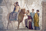 Italy, Naples, Naples Museum, from Pompeii, House of Fatal Love  (IX, 5,18), Europa riding a Bull Photographic Print by Samuel Magal