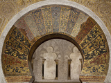 Spain, Andalusia, Cordoba, Cathedral–Mosque of Cordoba, Original Mosque, Relieving Arch Photographic Print by Samuel Magal