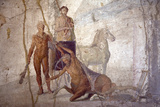 Italy, Naples, Naples Museum, from Pompeii, House of Jason (IX 5, 18), Heracles and Centaur Photographic Print by Samuel Magal