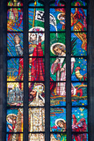 Prague, St. Vitus Cathedral, Stained Glass Window, Chevet Southern Window Photographic Print by Samuel Magal